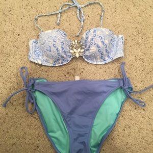 Victoria's Secret bikini jewel top string bottom